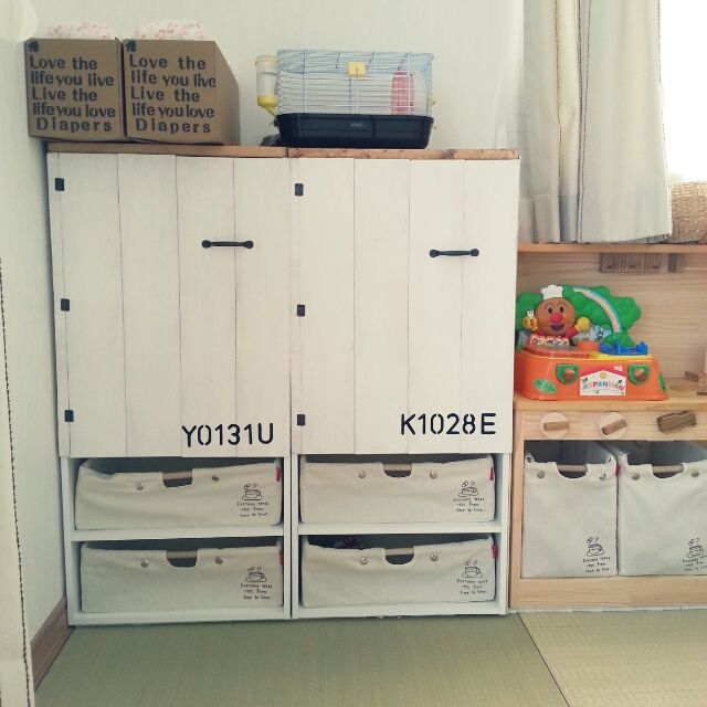 kae.さんの、クローゼット,コンテスト用,ハンドメイド,DIY,カラーボックス,リビング,のお部屋写真