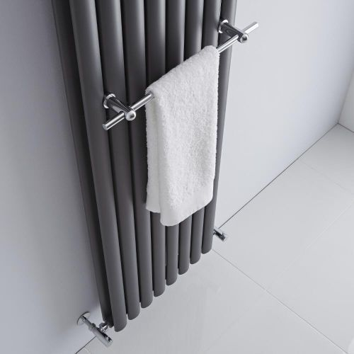 Enjoy the basic luxury of warm, dry towels with the Milano chrome designer radiator towel rail