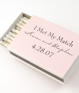 Matches as Spring Wedding Favor! I love all of these ideas for affordable favors! Funny and cute wedding ideas