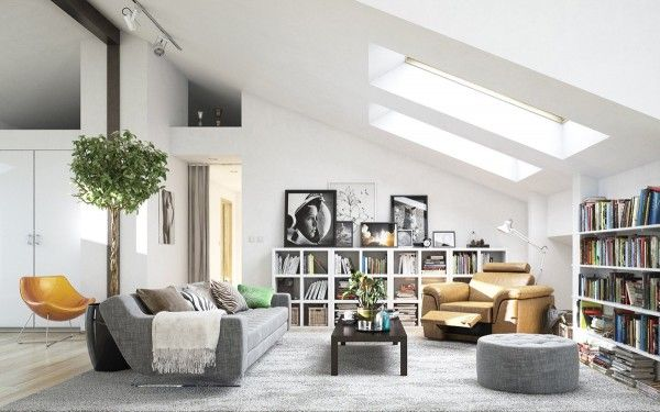 Ideas para una sala de estar de estilo nrdico