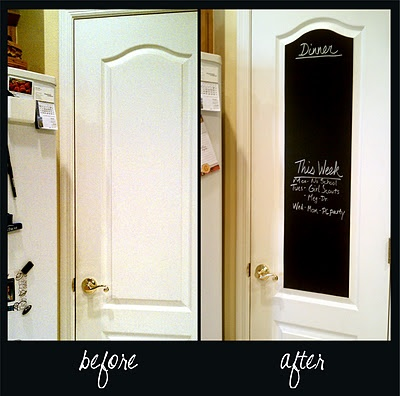 Chalkboard contact paper - easy to apply, to clean, and to remove!