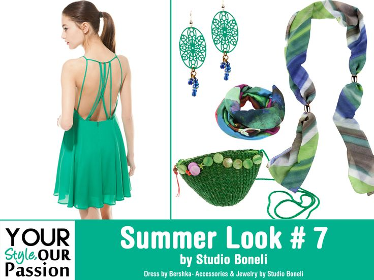 "Summer Look #7 by Studio Boneli! ""Green Cosmo"" Θηλυκό και αέρινο Cocktail φόρεμα συνδυασμένο με μοναδικά αξεσουάρ και κοσμήματα. Ιδανικό look για απογευματινές και βραδινές εμφανίσεις!  #YSOP #Summertime #Fashion #Style"