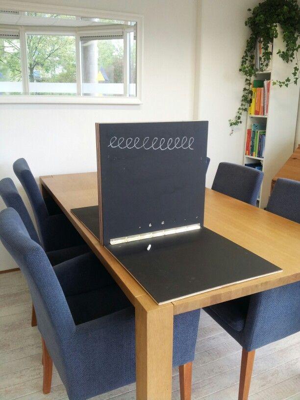 Een meskerbord gemaakt voor de praktijk.