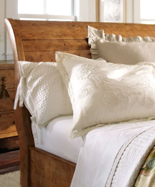 Rustic Sleigh Bed - Rugged Spruce Sleigh Bed