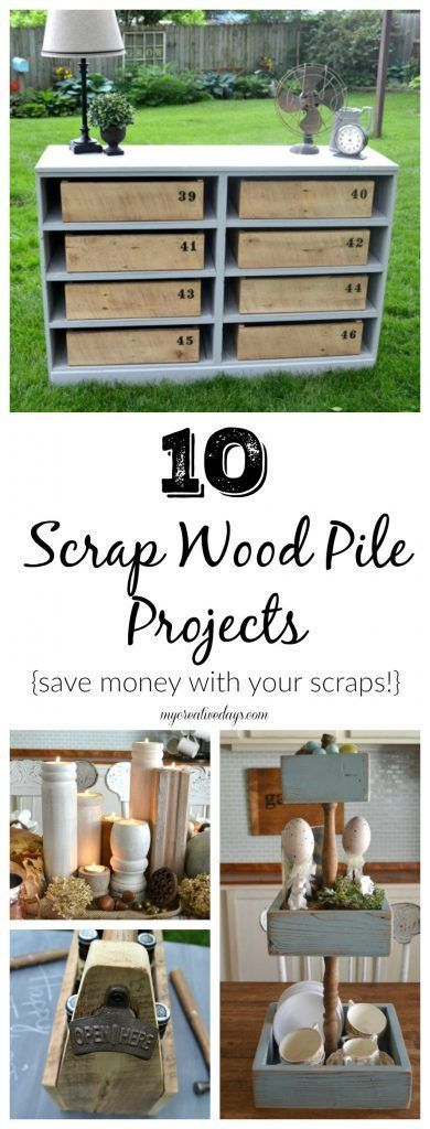 10 Scrap Wood Pile Projects - Do you have a growing scrap wood pile? Turn those pieces into Scrap Wood Pile Projects for your home!