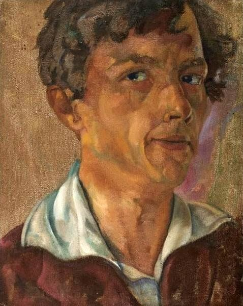 Self-Portrait, 1915 by Boris Grigoriev (Russian, 1886 - 1939)