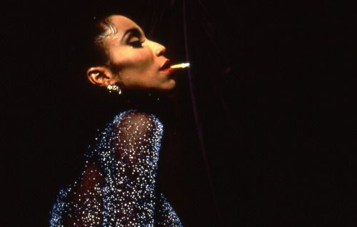 Octavia St. Laurent, trans woman, performer and member of the House of St. Laurent, from Paris is Burning, an incredible documentary film about queer and (predominantly) POC ball culture in New York