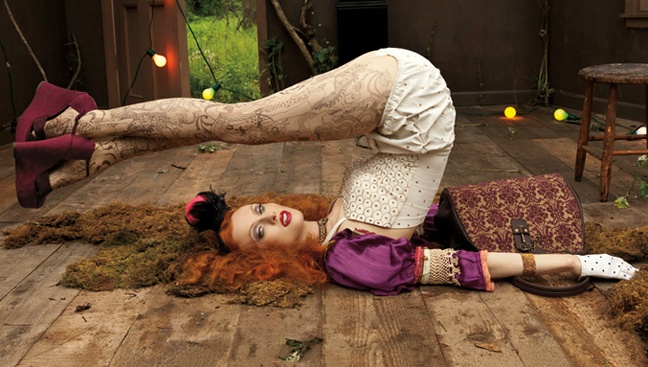 yoga in style: Vintage America, Karen O'Neil, Boudoir Queen, Vintage Wardrobe, West Vintage, Karen Elson, Nine West, Ninewest, Boudoirqueen