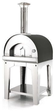 Forno Toscano Margherita, Anthracite (Black) contemporary-outdoor-pizza-ovens