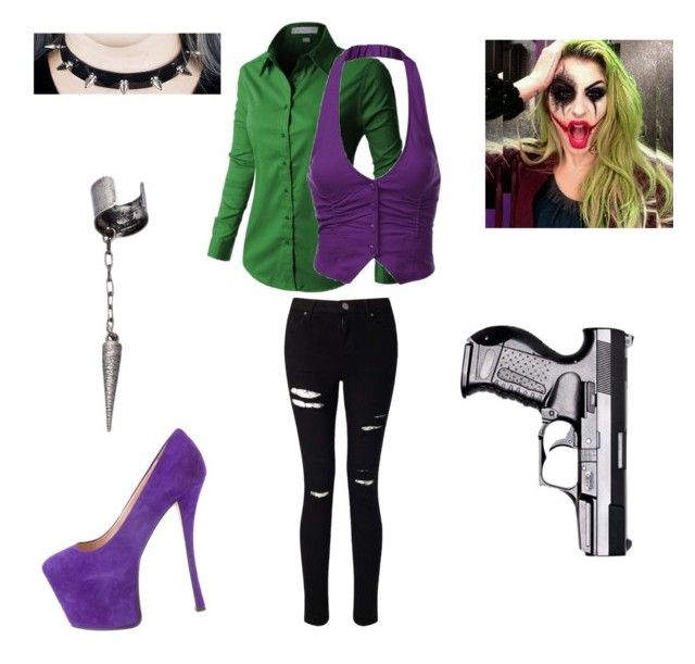 """Female Joker"" by sundavr on Polyvore featuring Miss Selfridge, Giuseppe Zanotti and Le Mos"