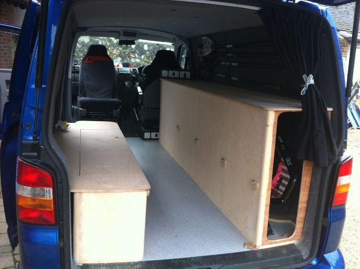 Surfboard storage for van