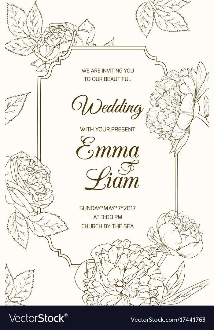 Wedding Invitation Card Template In 2021 Wedding Invitation Cards Wedding Invitations Wedding Invitation Card Design