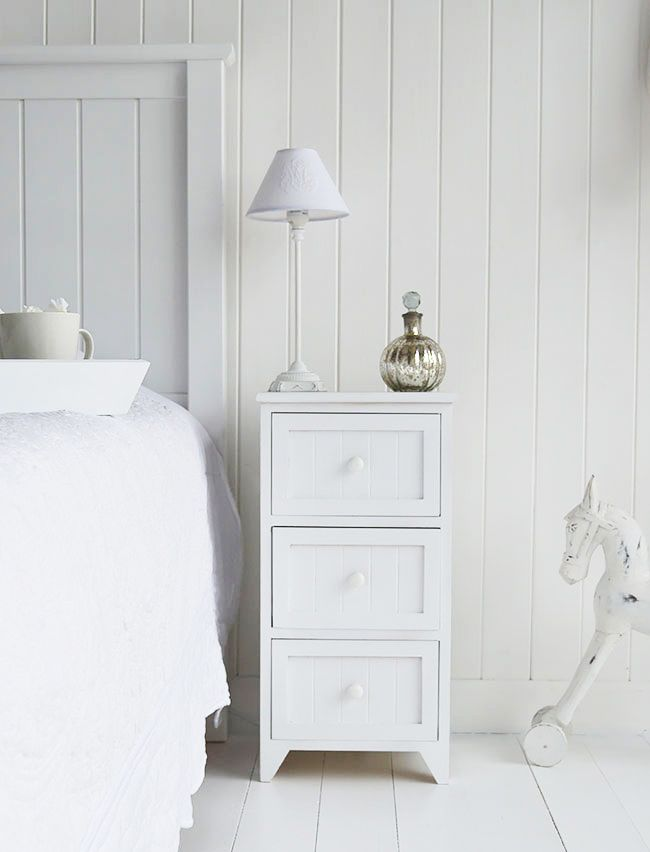 The White Lighthouse Furniture Maine White Bedside Cabinet 3