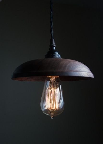 hand turned claro walnut pendant lights by board and bread