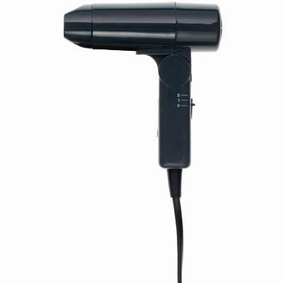 Muji Travel Hair Dryer. One of the smallest ones I have seen and it does work!
