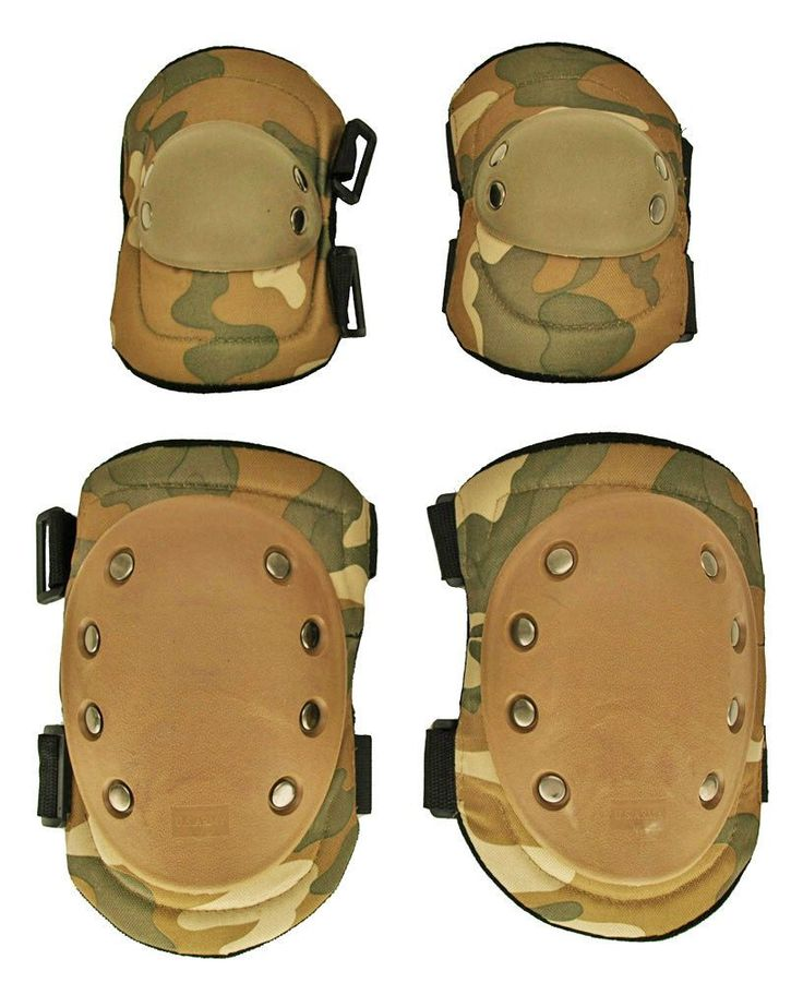 Knee and Elbow Pads for Airsoft, Camo