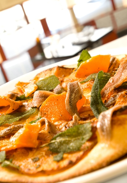 pumpkin and anchovy pizza