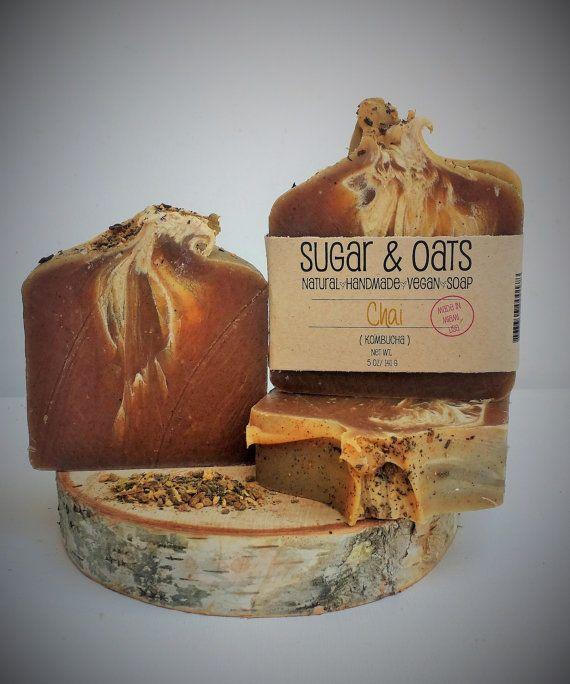 Handmade kombucha chai soap  https://www.etsy.com/listing/237941348/kombucha-chai-vegan-soap-vegan-soap