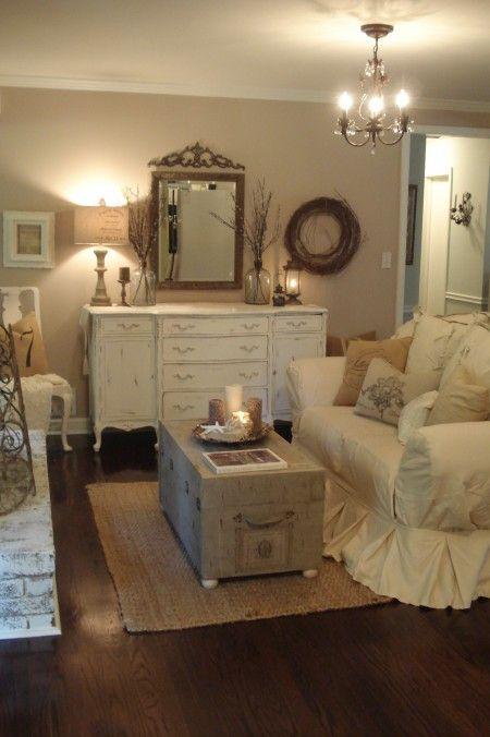 Rustic, Romantic Living Room