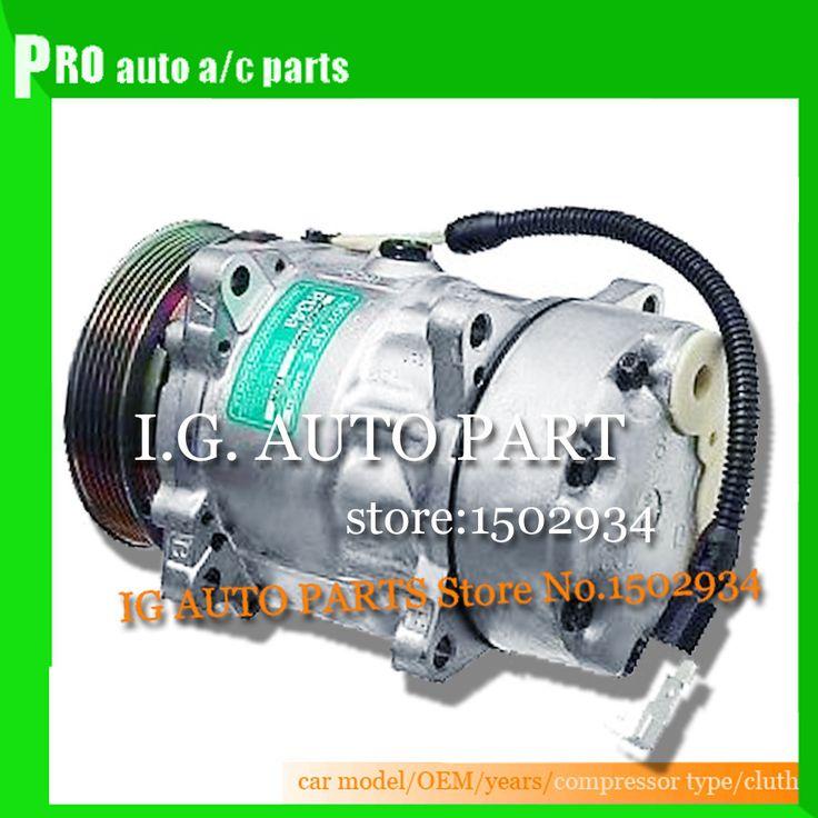 New 7V16 SD7V16 Auto AC Compressor For Peugeot 306 406 806 For Citroen Xantia Compressor Clutch 9613260680 9640486480 1106 #Affiliate