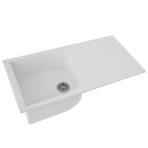Man-Made Granite Drop-In Sink with Drainboard - 40 Newish Kitchen ...