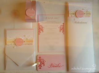 Samey Atelier Farbstil: Exklusive handgemachte Hochzeitseinladungen im festlich romantischen Stil als Pocketfold Karte