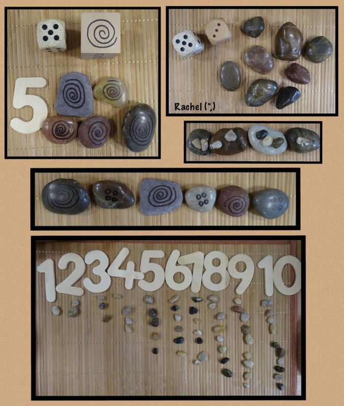 """Stones, pattern and number from Rachel ("""",)"""