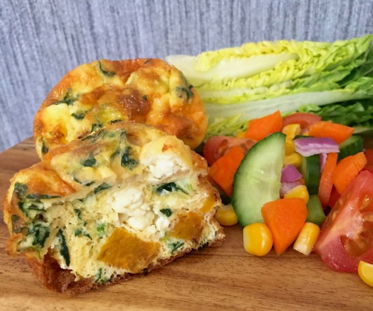For a healthy snack, or a light meal, this vegetarian pumpkin, shallot, feta and spinach quiche recipe is ideal, and just 131 calories.