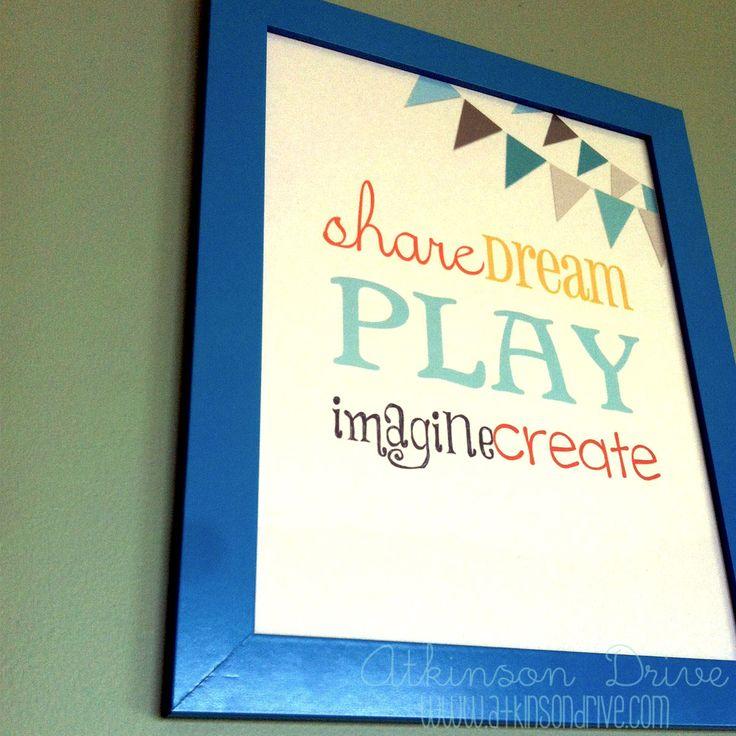 {FREE} Playroom Printables | Atkinson Drive
