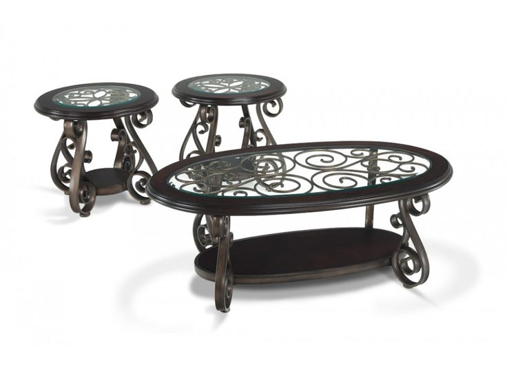 134 best coffee and end tables images on pinterest for Iron coffee table set