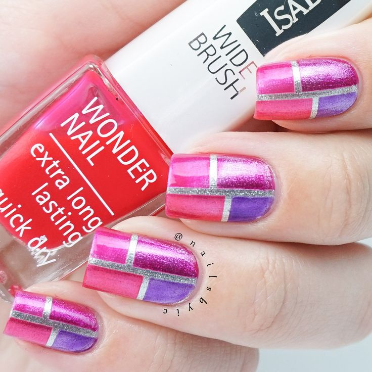 38 best isadora nail polish swatches and nail art images on isadora jelly pop nail gloss color block nail art with silver base prinsesfo Images