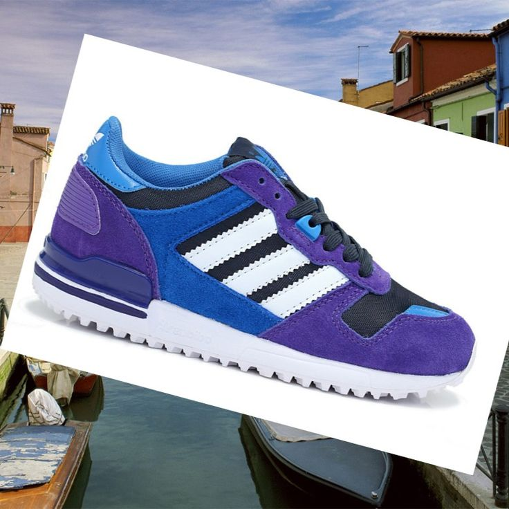 Scarpe Traning Per Donne, Adidas Zx 700 Suede Viola/Bianco/Blu Navy/Blu Royal