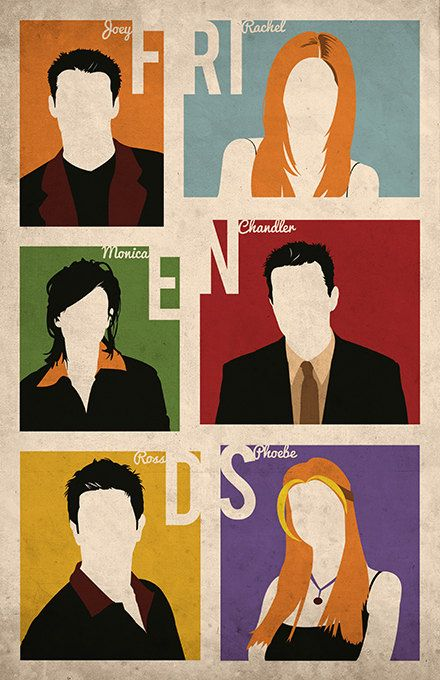 This item is an alternative poster that I designed and was inspired by the classic 90s tv show, FRIENDS. The poster features the iconic