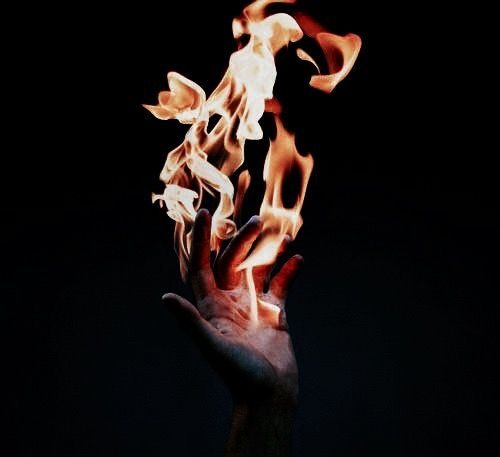 The flames danced through her fingers // Photography