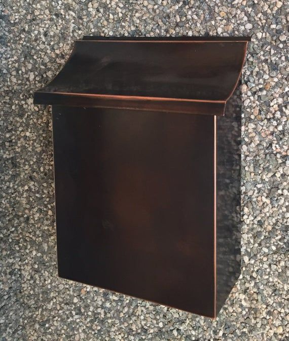 Flush Mount Vertical Patina Copper Mailbox Housewares Outdoor