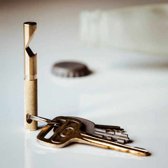 Bottle Opener Keyring  CNC Brass Keychain Tool  by FutureRelic