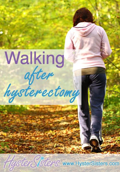 Why do I need to walk after surgery?   In the days following your hysterectomy, walking is about the only exercise you will be able to do safely.  Your activity