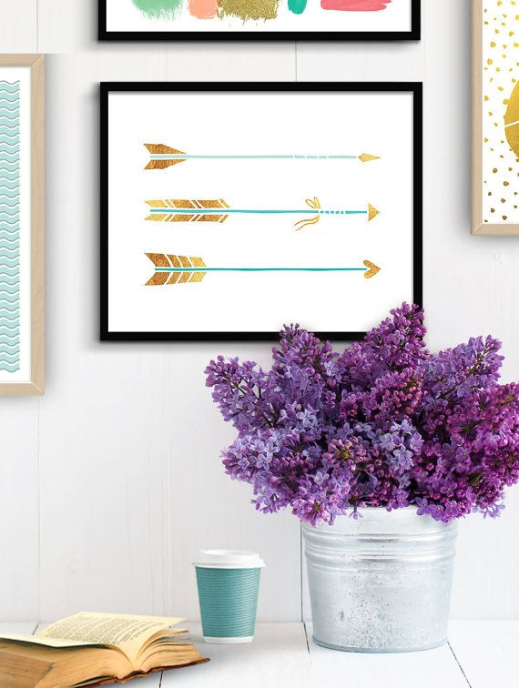 Printable Three Arrows Printable Wall Art, Southwestern Nursery Decor, Tribal Graphics, Tribal Kids Room Decoration, Southwestern Artwork