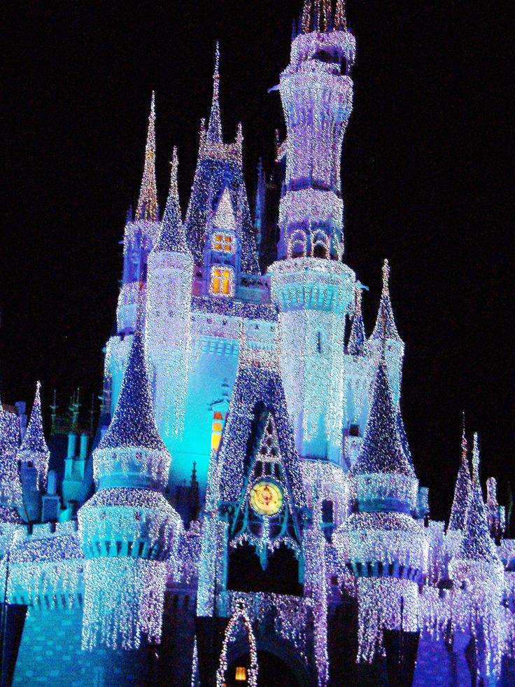 disney world castle in colorful icicles - Multi Castle Ideas