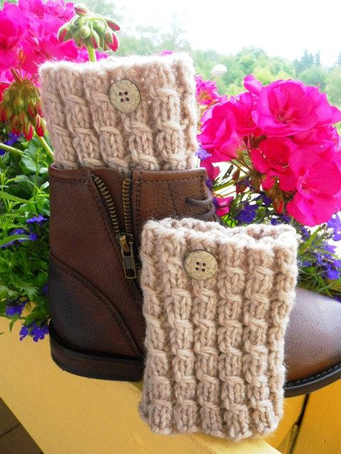 Ready to ship Knitted  Boot Cuffs  Leg by KnittingsWithSense