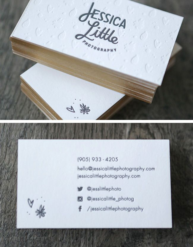 The Top 16 Photography Business Cards - Design Ideas || Simple and whimsical business card design for wedding photographer Jessica Little - printing by Ever Lovin