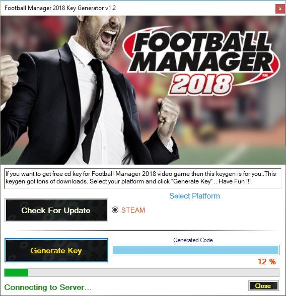 If you want to activate Football Manager 2018 then this Football