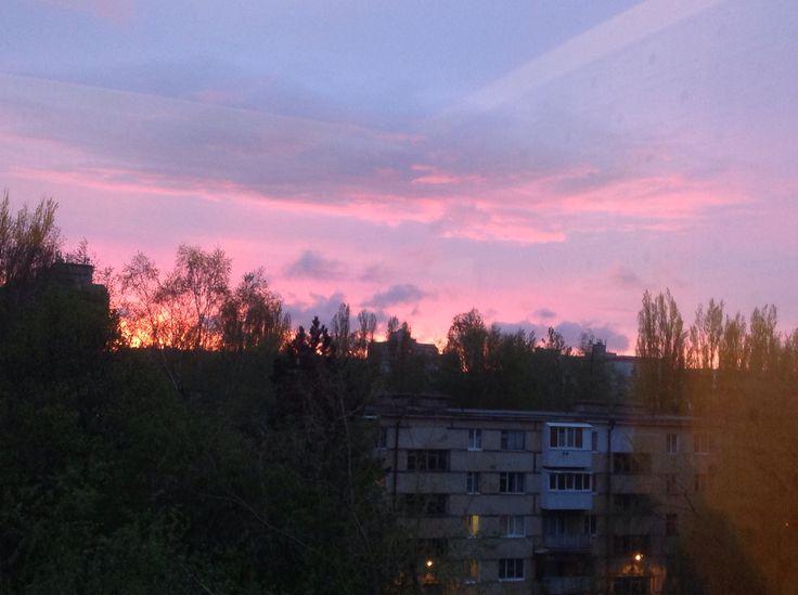 Это фото сделано мной из окна моей квартиры.