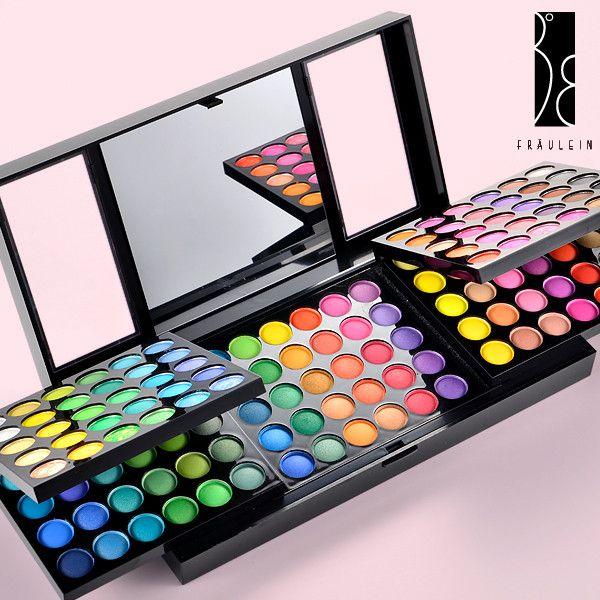 Trusa Farduri 180 culori Fraulein38 SUPER QUEENIE, 6 palete culori