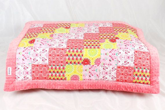 Baby Blanket Quilt Patchwork Minky Swaddle Wrap Baby by NuvaArt