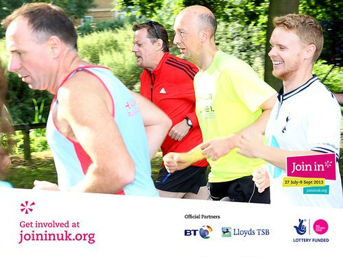 Parkrun's Join In Summer 2013 event in Chelmsford saw 200 volunteers jogging alongside famous comedian Eddie Izzard.