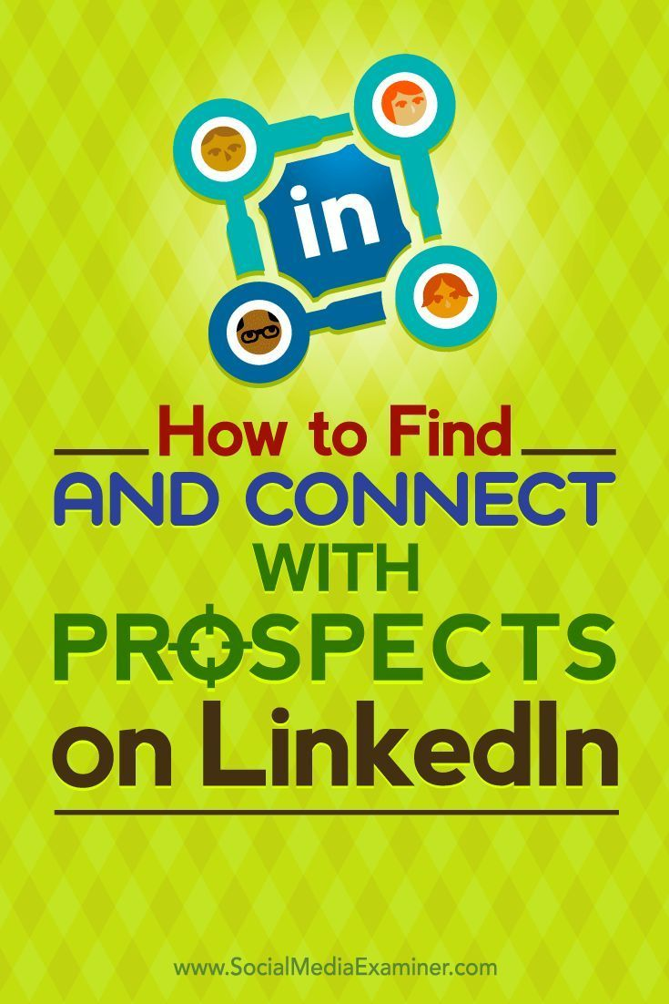Do you use LinkedIn to find new customers and clients?  LinkedIn is a great platform to find and connect with potential partners, customers, and clients.  In this article, youll discover how to use LinkedIn to find your target prospects. Via @smexaminer.