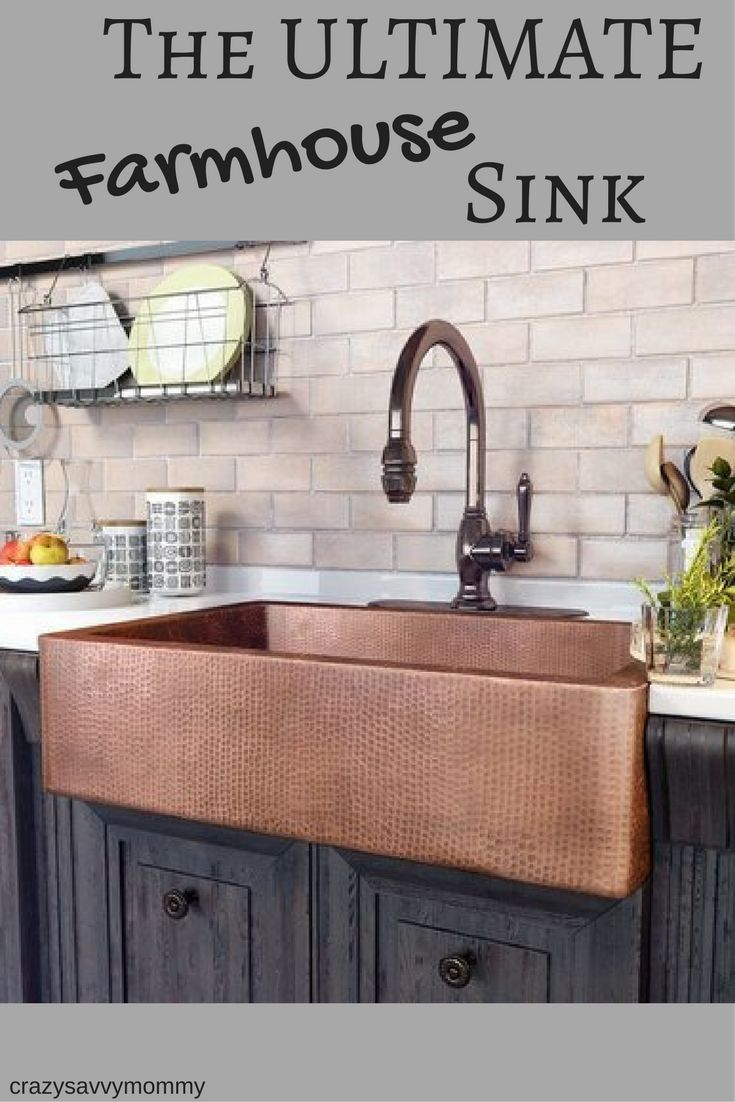 Update the heart of your home in sleek style with the ULTIMATE farmhouse sink, perfect for rinsing dinner dishes and filling stockpots. Click the link to buy it NOW! #modernfarmhousekitchen #farmhouse #rustic #kitchen #homedecor #ad
