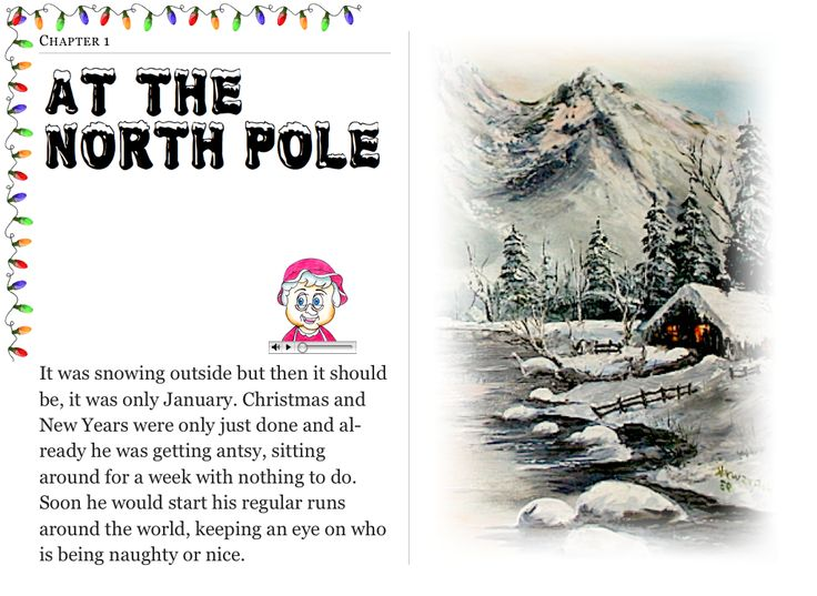 """Chapter 1 """"At The North Pole"""" (my personal images are used in my #audio #ebooks for #Children 3-7 and #Illustrative #Poetry, available at: https://itunes.apple.com/ca/book/twas-year-that-santa-quit/id1161025863?mt=11 and www.jamesagrove.ca)"""