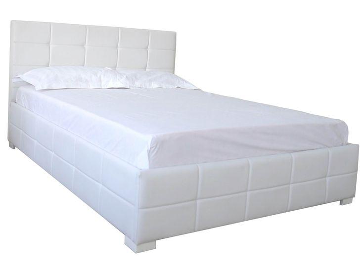 Lit coffre 160 cm CYCLADE coloris blanc prix promo Lit Conforama pas cher 384.80 € TTC au lieu de 480 €